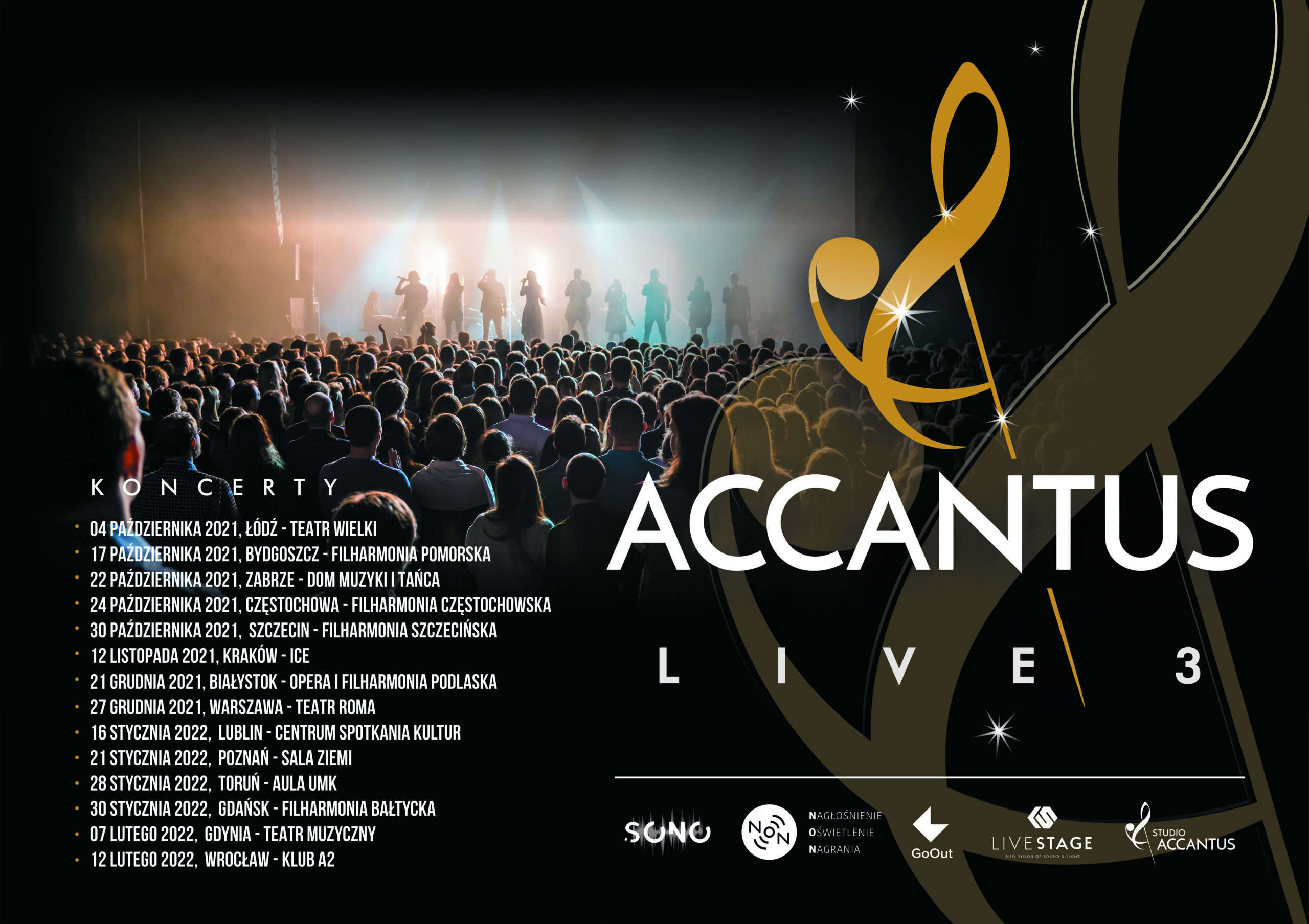 Plakat Accantus Live 3